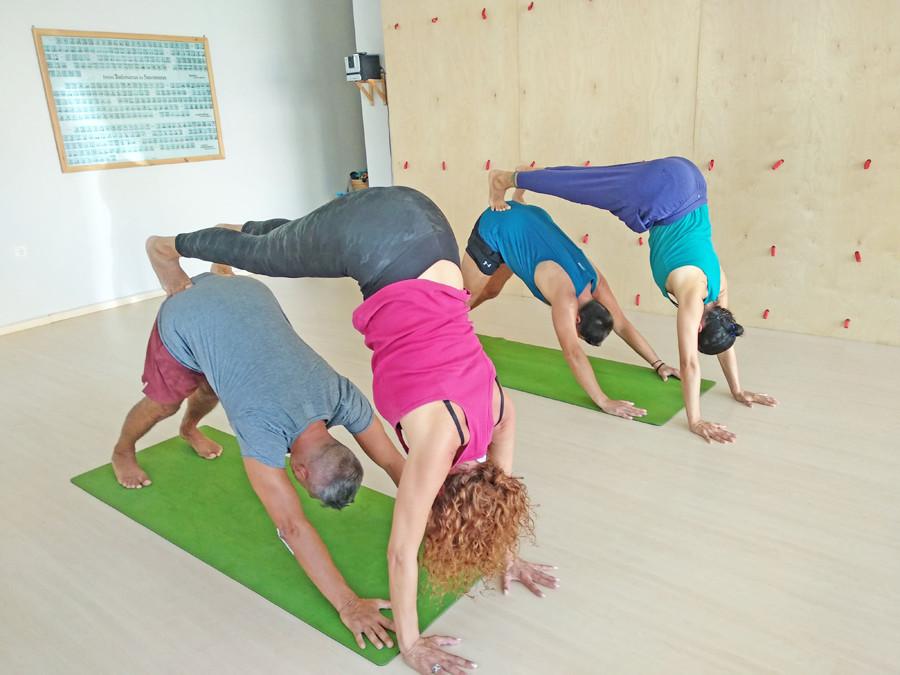 Partner Yoga at Yoga class Chania in Crete, Greece