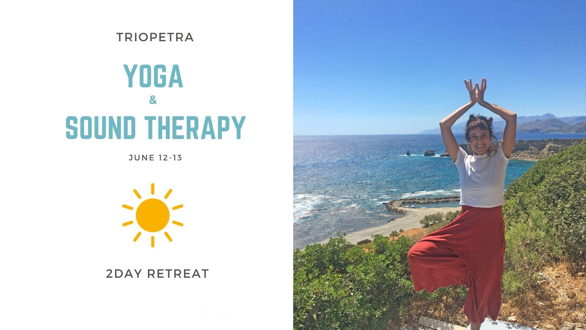 2ήμερο Yoga και Ηχοθεραπεία στην Τριόπετρα – 12-13 Ιουνίου