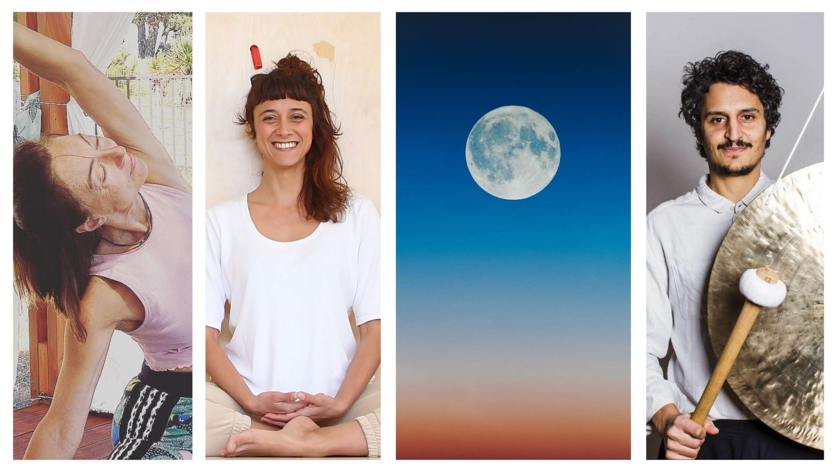 Full Moon Yin Yang Yoga και Sound Bath Outdoors Event